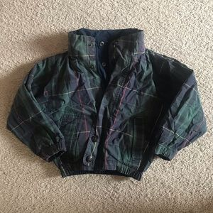 Nautica Plaid Reversible Jacket Boys Toddler Sz 4